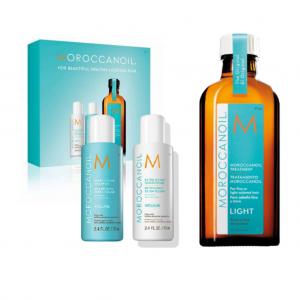 Light Moroccan Oil 100ml (free 70ml Shampoo & Conditioner)